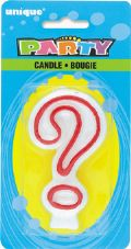 ? Question Mark Birthday Cake Candle